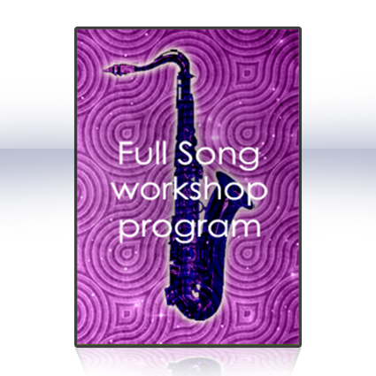 The full song workshop program - Learn the 9 steps to professional  improvisation on the saxophone