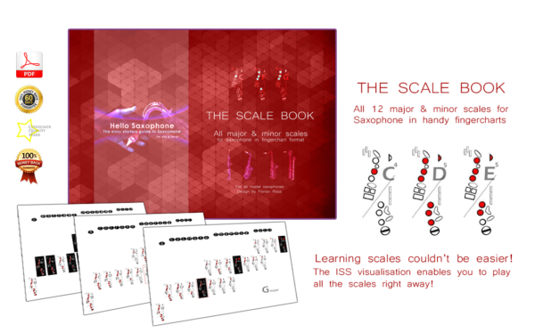 the saxophone scale book - How to play the saxophone - how to learn all scales on the saxophone