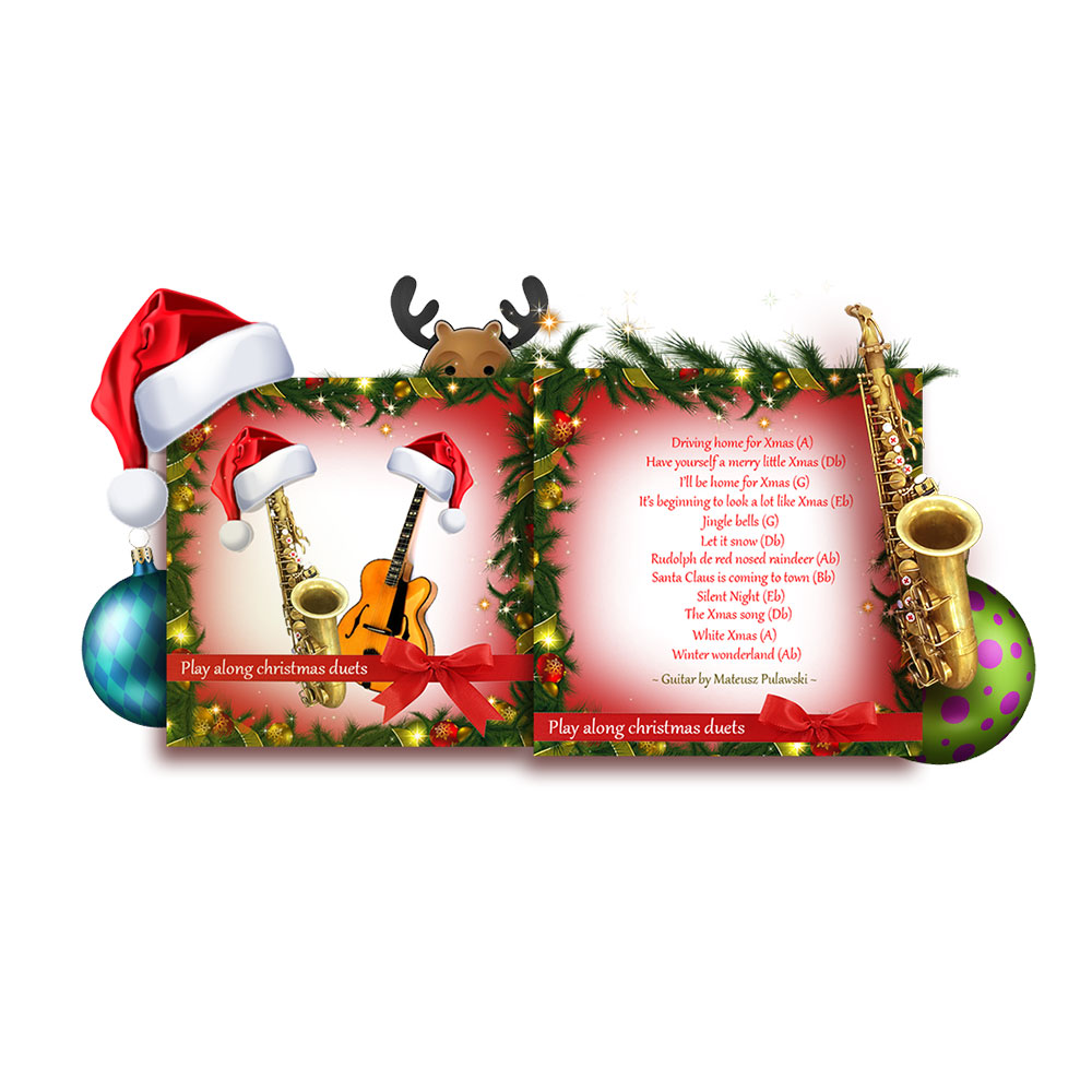 learn to play the saxophone - jazz Duets for saxophone christmas play along album