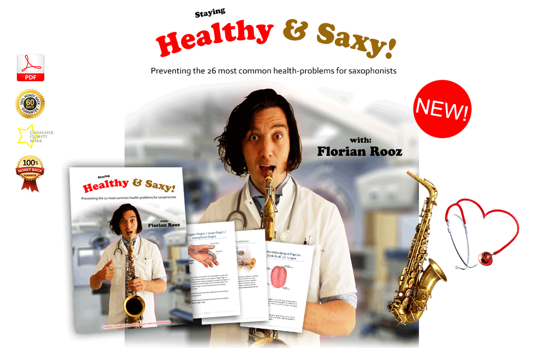 Staying healthy and saxy – preventing the 21 most common health problems for saxophonists