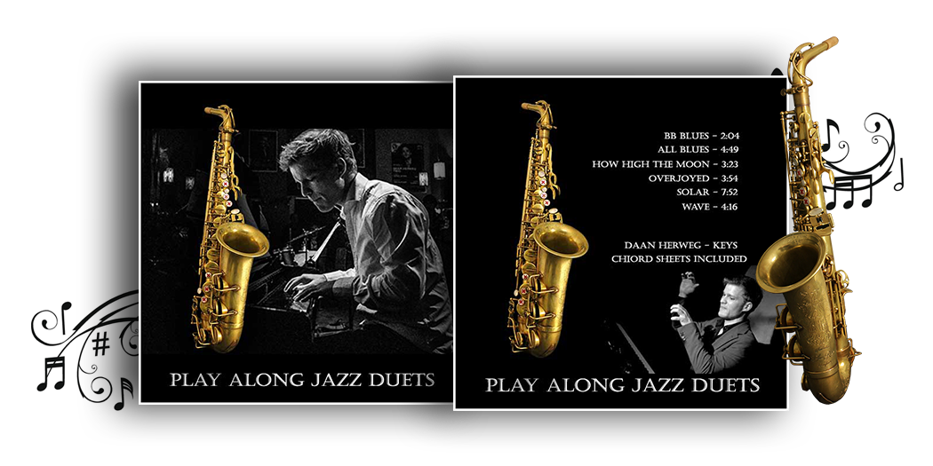 duets for learning how to play the saxophone - play along album